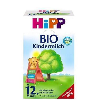 运费仅需5欧(用码BA5HT)+特价 Hipp 喜宝 有机幼儿配方奶粉1+段(12个月以上) 800g