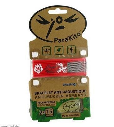 运费仅需5欧(用码BA5HT)+特价 Para kito 帕洛纯天然植物驱蚊手环 婴幼儿孕妇防蚊 2芯片装