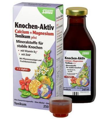 运费仅需5欧(用码BA5HT)+特价 Salus 青少年 成人钙镁锌+维生素D补钙骨原果蔬营养液250ml