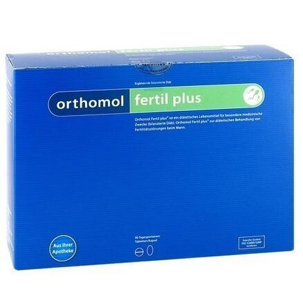 【用码BA45包邮】Orthomol 奥适宝 Fertil Plus 男性备孕提高精子活力营养胶囊 90袋