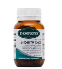 【KiwiDiscovery】Thompson& 039s 汤普森 蓝莓越橘护眼精华胶囊 60粒  27纽 约¥129