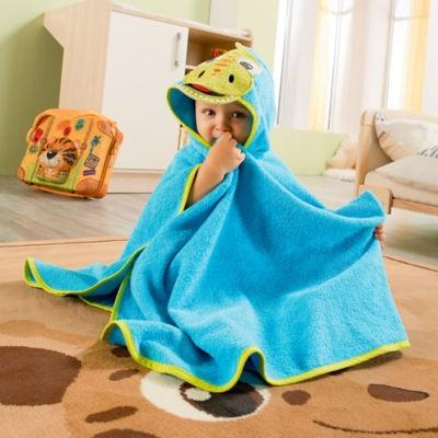 【推荐】KINDERBUTT 斗篷浴巾 深蓝色(多重优惠+全额包税)
