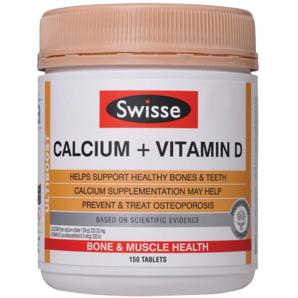 【澳洲Roy Young药房】Swisse 钙元素+维生素D营养补充片(促进钙吸收 增强免疫 血液循环) 150片