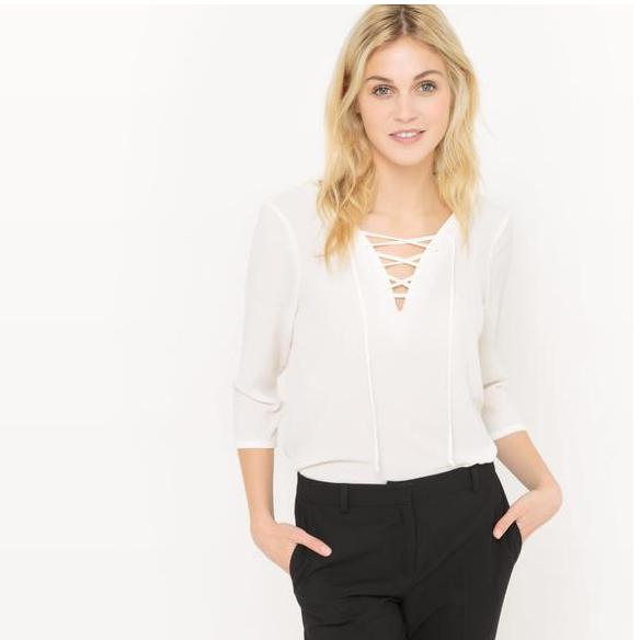 【法国 LR】限时好价 R edition 女士交叉绑带衬衫低至32 99欧!