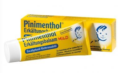 Pinimenthol 桉树油+松叶油纯植物提取儿童感冒按摩膏 50g 舒缓呼吸道 止咳化痰