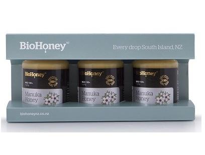 【新西兰PD折扣药房】Biohoney 麦卢卡蜂蜜 MGO100+ 3x100ml套装  用码后单件包邮41 75纽 约¥202