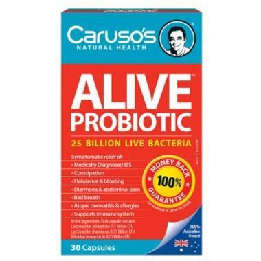 Caruso& 039s Natural Health 肠道益生菌胶囊 (缓解腹胀便秘)30粒(全场满99澳运费仅需1澳)