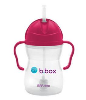 B box 婴幼儿重力球吸管杯 防漏 240ml 玫红色 (6个月以上)【全场满85澳免邮2 5kg】