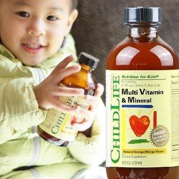 ChildLife童年时光综维及矿物质精华营养液237ml 含23种元素 天然桔子 芒果味 特价$9 63 约¥57一瓶