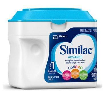 Similac 雅培 1段成长发育奶粉 658g*2罐 折后318元包邮,折合159元 罐