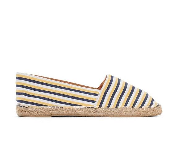 【法国LR】秒杀包邮:ATELIER R条纹帆布草鞋 限时仅需51 99欧!