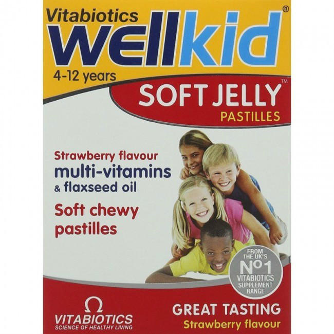 【免邮特惠】 Vitabiotics Wellkid 儿童复合维生素 草莓味果冻软糖 30粒