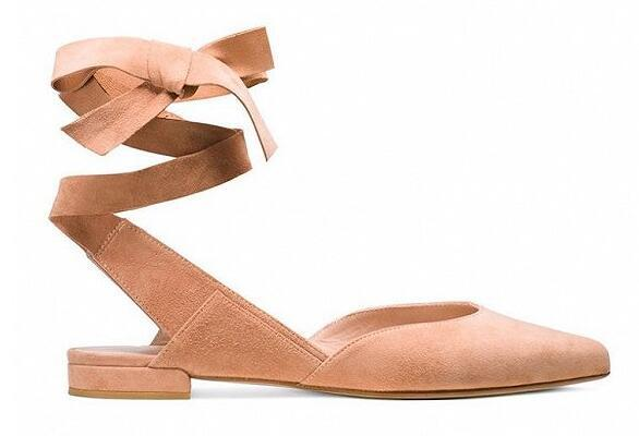 露腿时节少不了一双蝴蝶结平底鞋