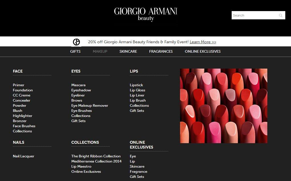 Giorgio Armani Beauty是什么网站? Giorgio Armani Beauty阿玛尼美妆网站介绍