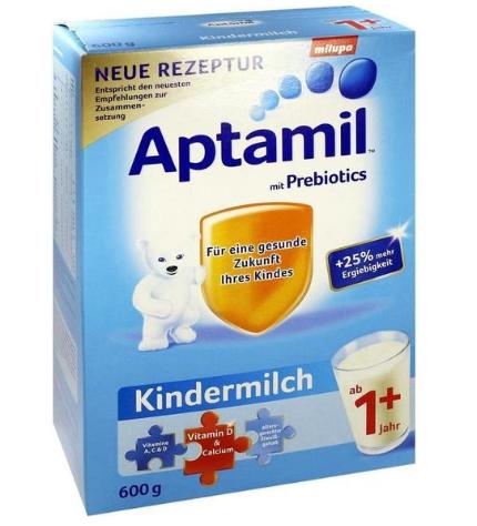 【奶粉也能免邮了!】Aptamil 爱他美幼儿配方奶粉1+段(1岁以上)600g