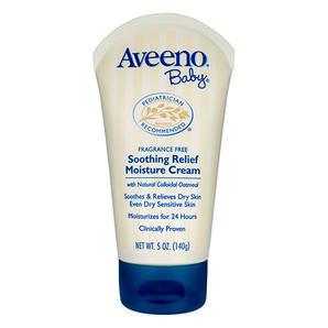 【澳洲Amcal 全场折上8 9折】Aveeno 艾维诺 天然燕麦精华婴儿舒缓润肤霜 140g