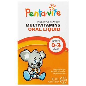 【澳洲Amcal 全场折上8 9折】Penta-vite 新生儿多种复合维生素滴剂菠萝口味(0-3岁适用) - 30mL