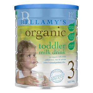 【澳洲Amcal 全场折上8 9折】Bellamy& 039s 贝拉米 有机婴幼儿配方奶粉 3段 900g