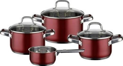 【推荐】ELO 不锈钢锅 7件套装 浆果红(多重优惠+全额税补)