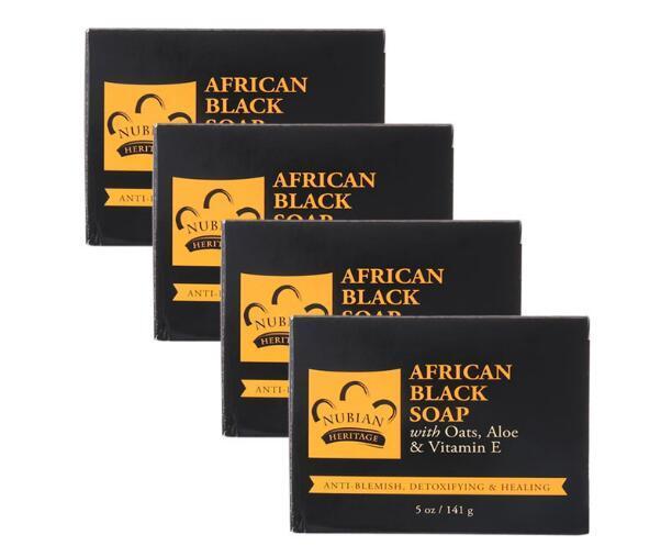 【4件包邮装】Nubian 南非黑香皂棒 4141g(结合燕麦 芦荟 维生素E)