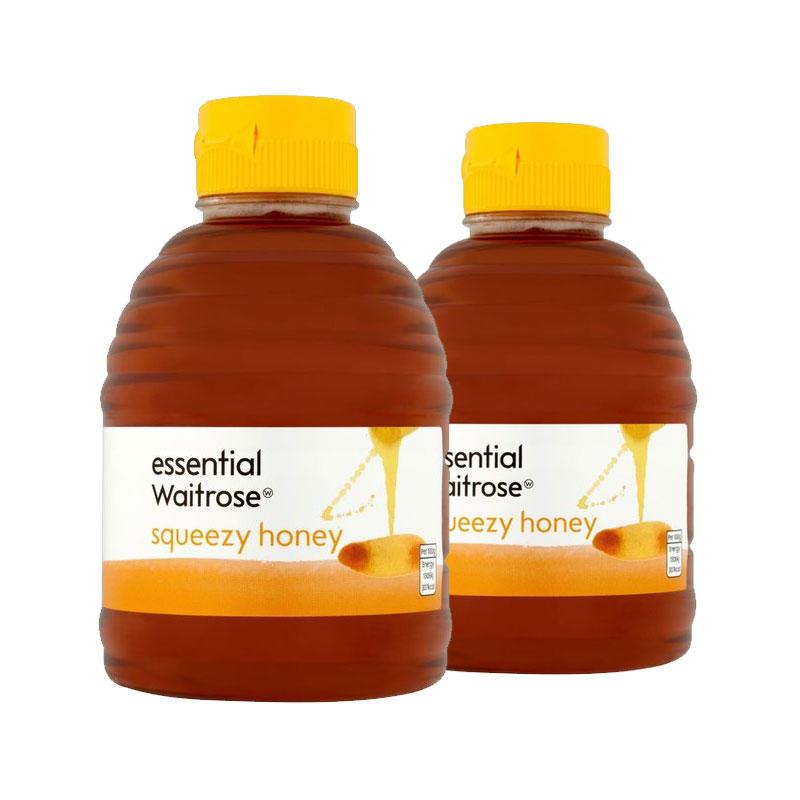 【2件包邮装】Waitrose 纯清澈蜂蜜 2x454g 瓶(挤压罐装)
