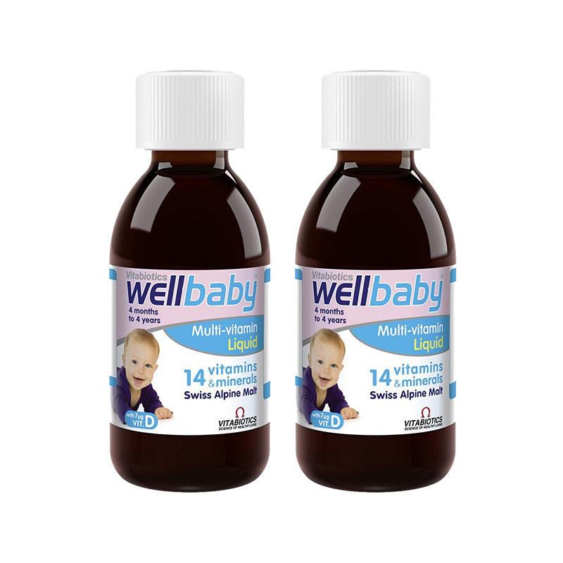 【2件包邮装】Vitabiotics Wellkid 婴幼儿复合维生素口服液 150ml  149元(券后包邮包税价)