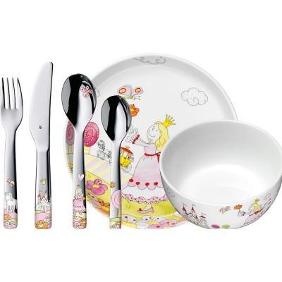 【推荐】WMF完美福 福腾宝儿童餐具套装 6件装 小公主 Anneli(多重优惠+包税服务)