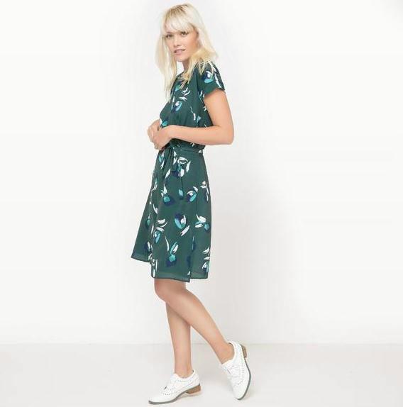 【法国LR】6折放肆购!MADEMOISELLE R 女士印花短袖连衣裙限时好价!