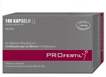 【德国DC】Profertil 提高精子活力男士备孕保健胶囊 180粒
