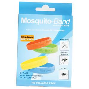 Mosquito-Band 硅胶驱蚊手环 2只装