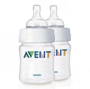 AVENT新安怡经典宽口径防胀气奶瓶包奶嘴 125ML2