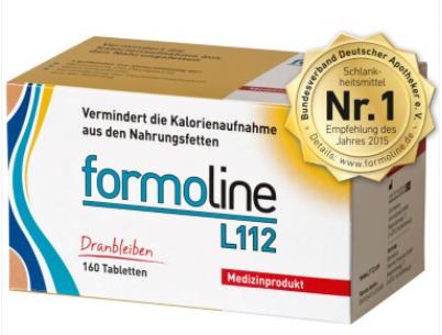 【德国DC】Formoline L 112 植物膳食纤维控脂减肥片 160片 德国销量No 1减肥产品