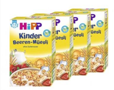 【德国DC】【4盒特惠装】Hipp 喜宝 多种有机浆果(草莓 覆盆子)全麦麦片 200g 1-3岁宝宝辅食 不含