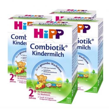 【德国DC】【4盒特惠装】Hipp 喜宝 Combiotik 有机益生菌儿童成长配方奶粉 2+ 600g4盒