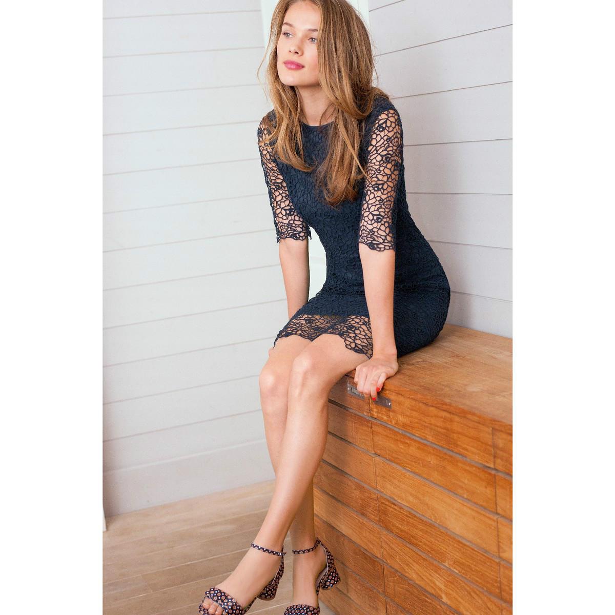 【法国LR】1件免邮: 法国设计师品牌ATELIER R短袖蕾丝连衣裙