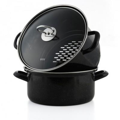 【德国EM】【推荐】Riess 德国原装进口 多功能搪瓷蒸锅3件套 22cm