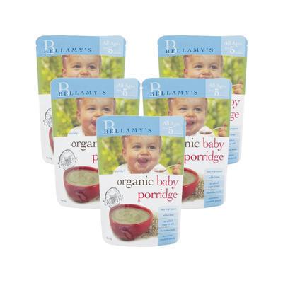 【5件包邮装】Bellamy& 039s 贝拉米 婴幼儿有机麦片粥 5x125g 袋 186元(券后包邮包税价)