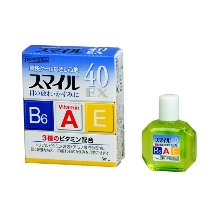 【多庆屋】狮王 smile40EX眼药水 15ml  JP¥ 400 (约人民币¥24 80)