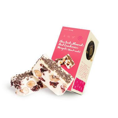 Myshee 麦食超级牛扎糖 120g 奇亚籽杏仁蔓越莓牛扎糖(全场满99澳,运费立减16澳,优惠码:PO16)