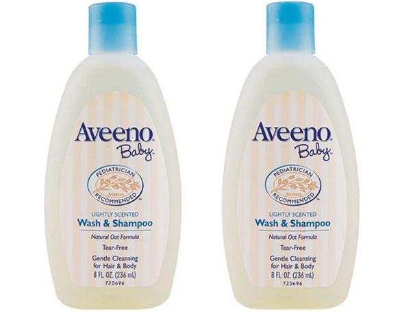【2件包邮装】Aveeno 艾维诺 纯天然燕麦婴儿洗发沐浴露 2x236ml 瓶