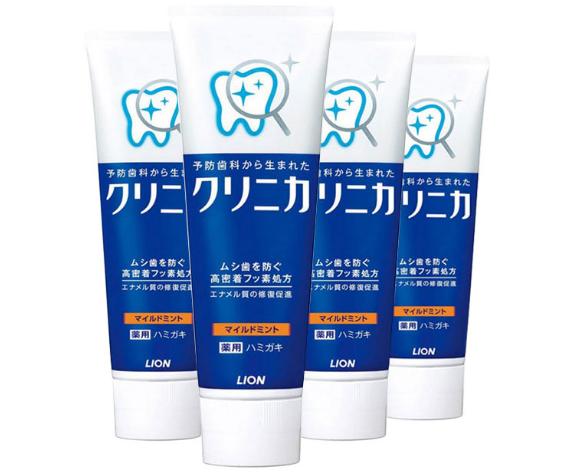【4件包邮装】LION 狮王 CLINICA 全效净护牙膏 4x130g 支  119元(券后包邮包税价)