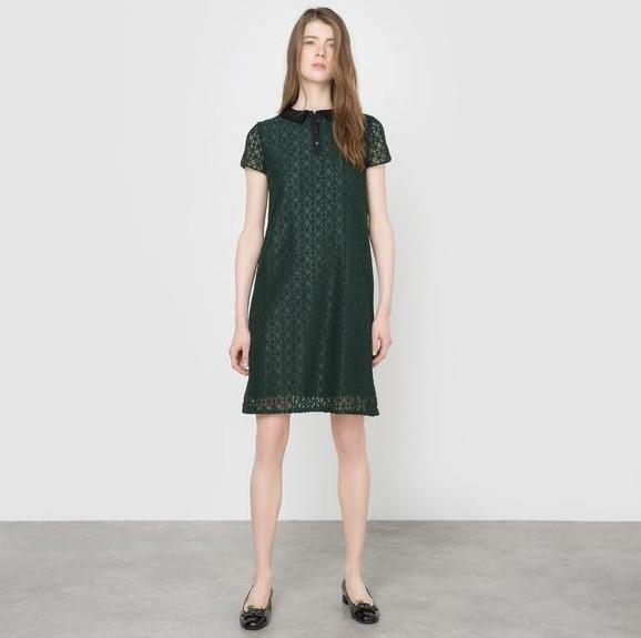 【法国LR】专区1件免邮:Mademoiselle R小翻领连衣裙仅需293直邮到手!