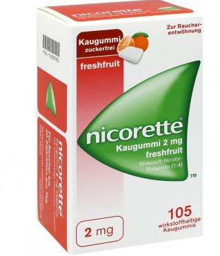 【德国DC】Nicorette 力克雷 果味戒烟口香糖 105粒