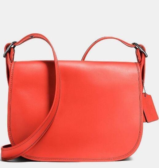 Angelababy同款:COACH 蔻驰Glovetanned Leather Saddle Bag女士真皮单肩包 新降好价$159 99,转运到手约1240元