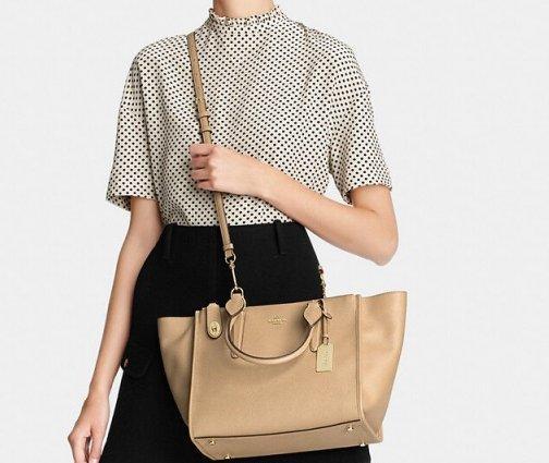 新低价!COACH 蔻驰Crossgrain Leather Crosby Carryall女款时尚手提斜挎包 特价$119 99,转运到手约936元