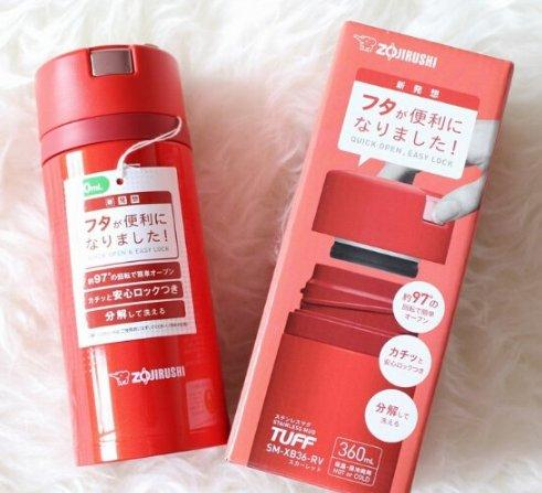 Zojirushi 象印 SM-XB36-RV 保温杯0 36L 史低1323日元(约¥81)