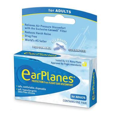 Earplanes 成人专用飞机耳塞航空飞行减压耳塞 1对 (全场满89澳减10澳,满99澳减16澳 )