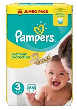 【德国DC】Pampers 帮宝适 宝宝中号尿不湿纸尿片纸尿裤 3号大小(5-9kg宝宝)