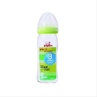 【包邮装】Pigeon 贝亲 母乳实感宽口耐热玻璃奶瓶 240ml(适合3个月以上的宝宝)