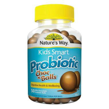 Nature&#039s Way 佳思敏 儿童益生菌巧克力球 50粒(调理肠胃助消化)